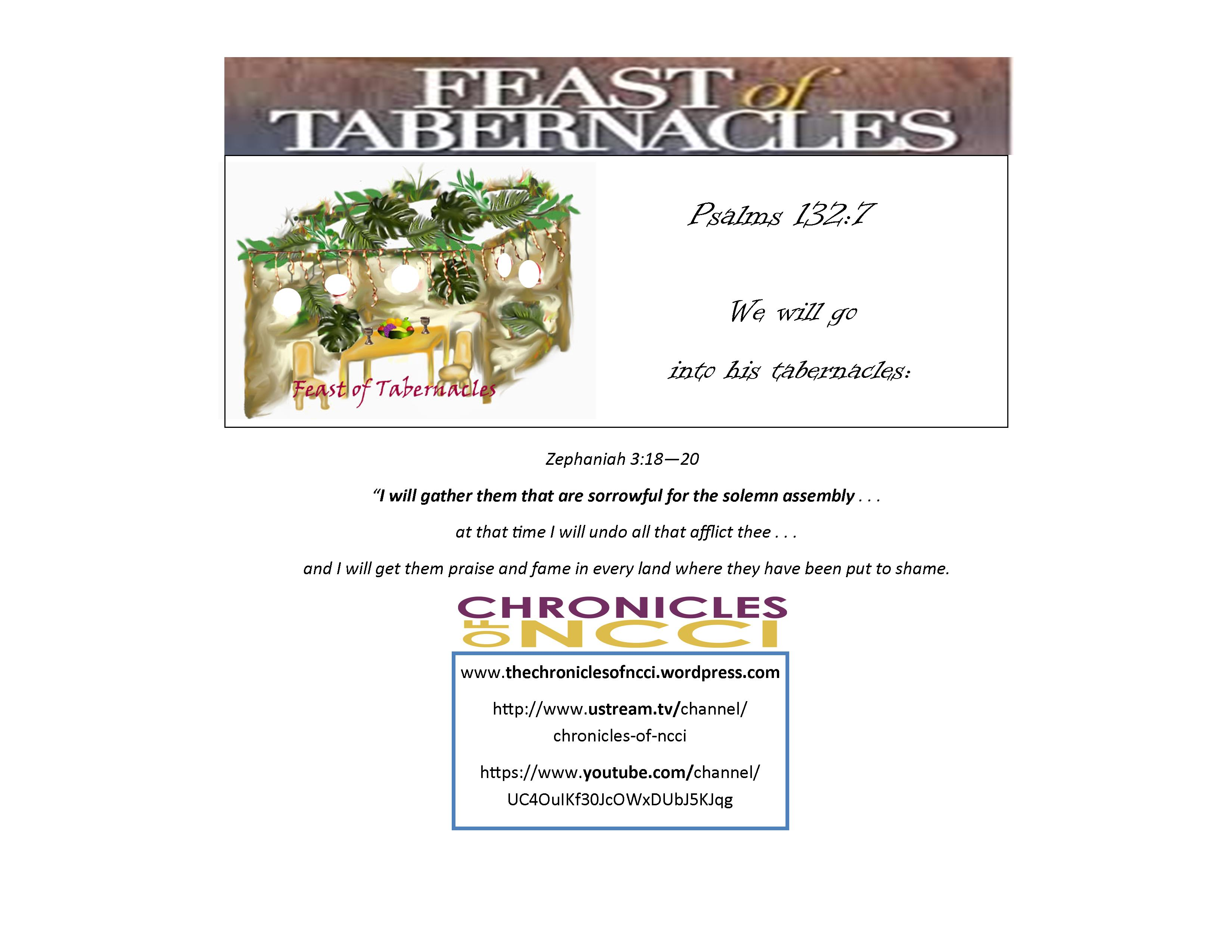 Biblical Holy Days The Chronicles Of Ncci