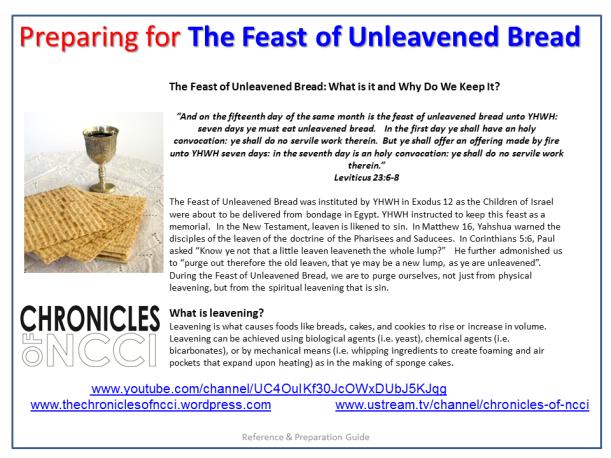 Unleavened Bread Prep 1