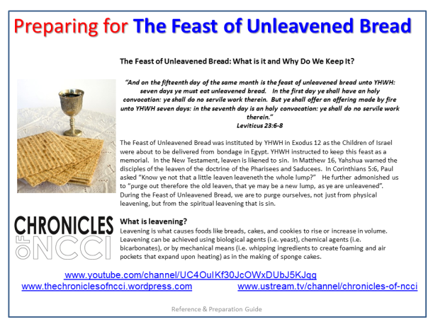 Unleavened Bread Prep 1